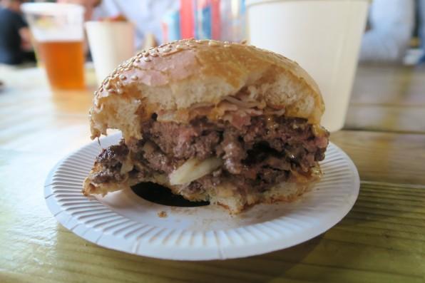 Medium well double cheeseburger